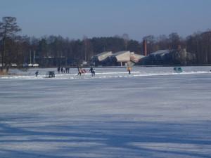 Ledo ritulys ant Galvės ežero