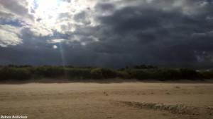 Pajūris ir debesys