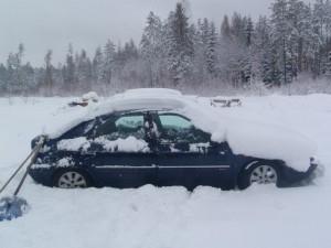 Citroen Xantia žiemą
