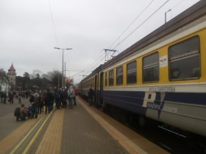 Traukinys Jūrmaloje